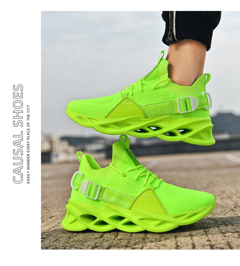Sneakers Men Mesh Breathable Running Sport Shoes Unisex Light Soft Thick Sole Hole Couple Shoes Athletic Sneakers Women Shoes
