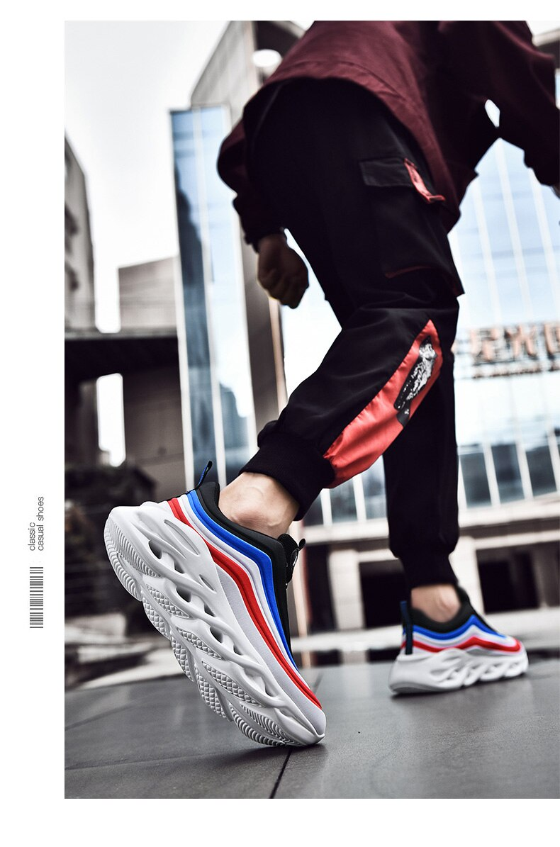 Men's Casual Shoes for Man Sneakers Durable Outsole Trainer Zapatillas Deportivas Hombre Fashion Sport Running Shoes Plus SIZE