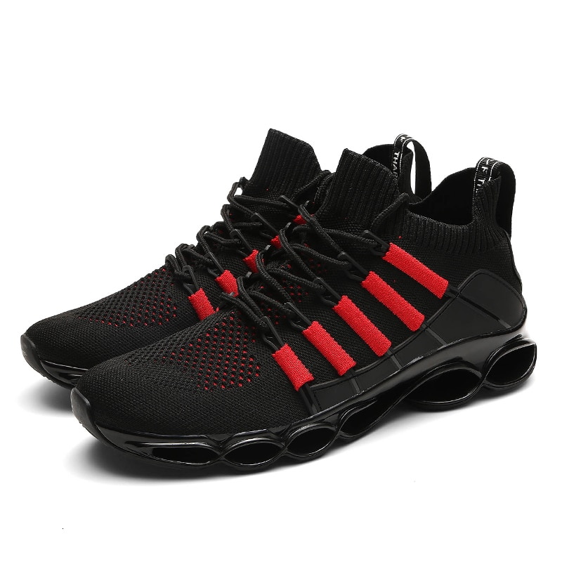 Men Shoes Sneakers Comfortable Casual Sports Shoes New Breathable Tenis Masculino Adulto Male Red Autumn Blade Large Size 50